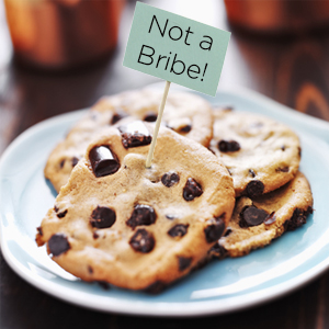 Cookies are not a bribe
